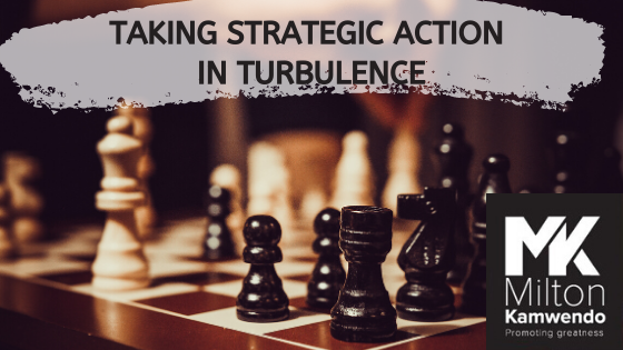 Taking Strategic Action in Turbulence